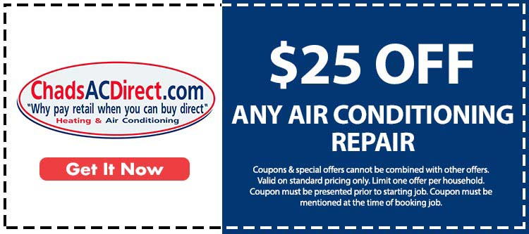 discount on any air conditioning repair