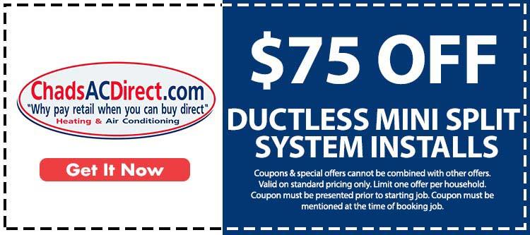 discount on mini split ac system installation