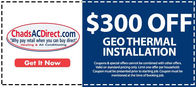 discount on geothermal installation